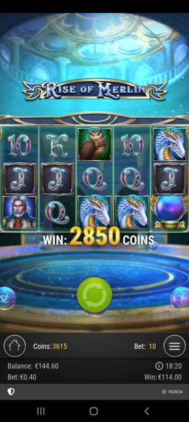 Rise of Merlin Casino win picture by dj_niemi 8.12.2020 114e 285X