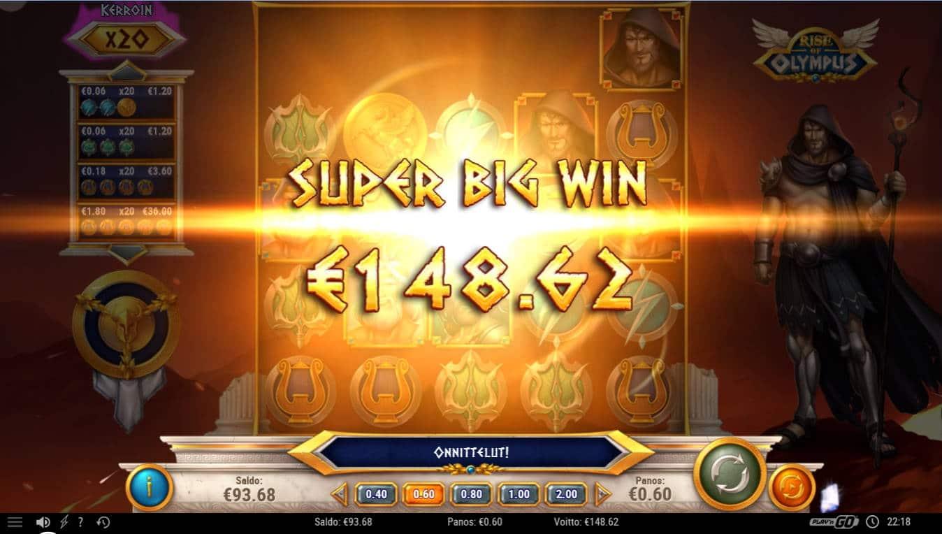 Rise of Olympus Casino win picture by Kari Grandi 6.12.2020 148.62e 248X