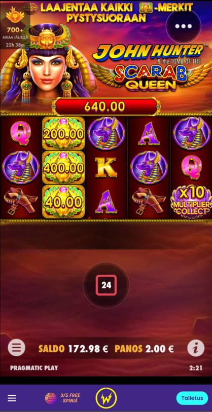 Scarab Queen Casino win picture by Salatheel 2.12.2020 640e 320X