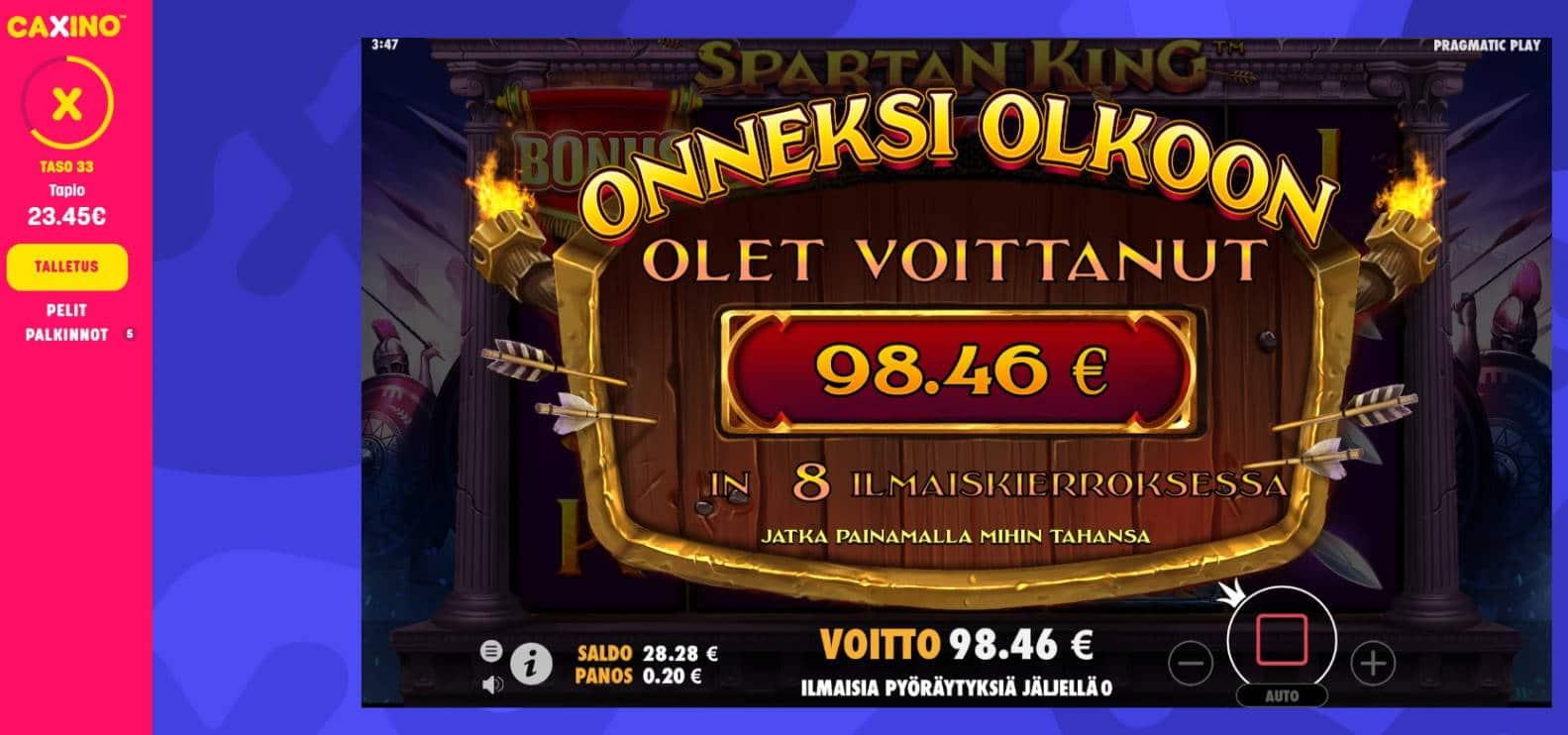 Spartan King Casino win picture by MrMork666 22.11.2020 98.46e 492x Caxino
