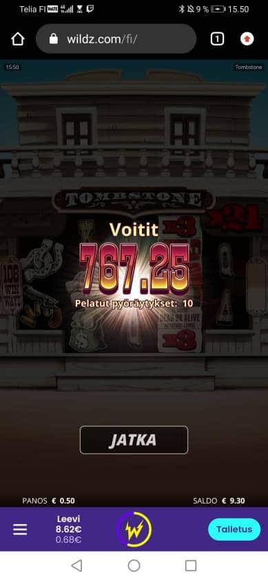 Tombestone Casino win picture by stenwall_ 29.11.2020 767.25e 1535X Wildz