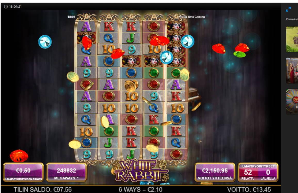 White Rabbit Casino win picture by harveyb 22.11.2020 2150.95e 4302X