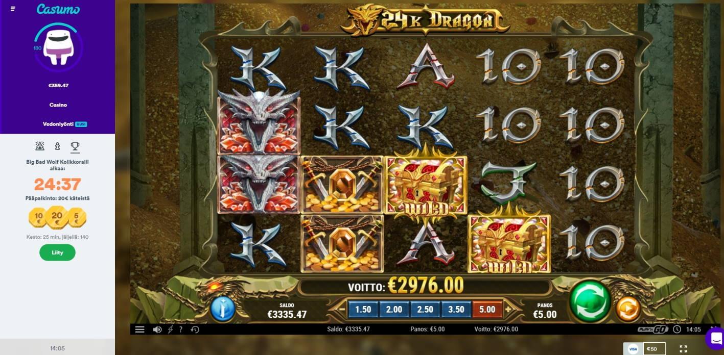 24k Dragon Casino win picture by tunnus124 21.1.2021 2976e 595X Casumo