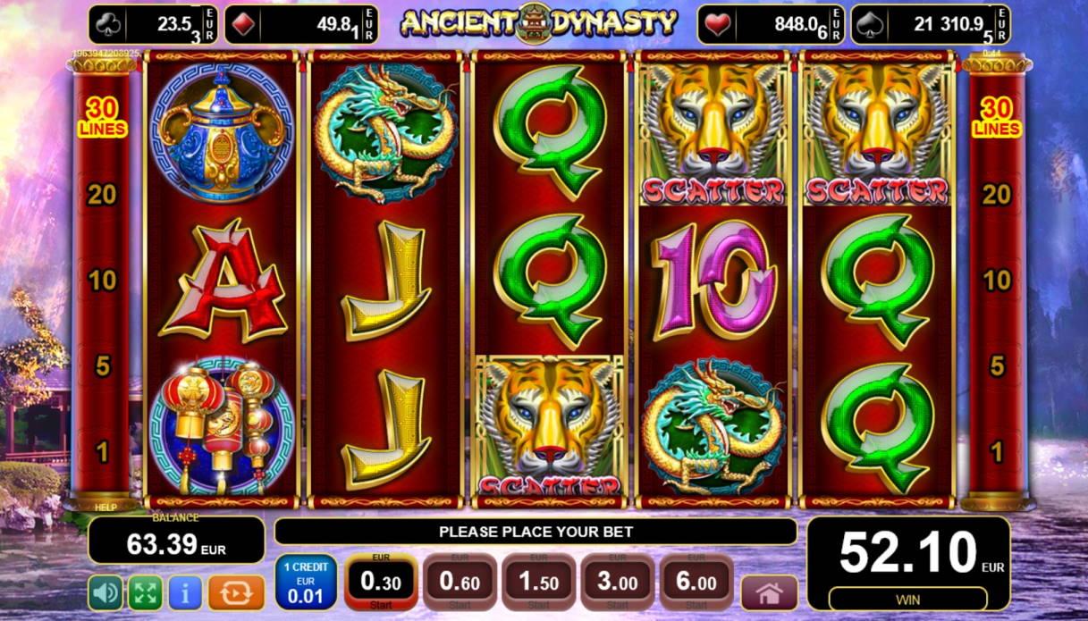 Ancient Dynasty Casino win picture by Mrmork666 4.1.2021 52.10e 174x