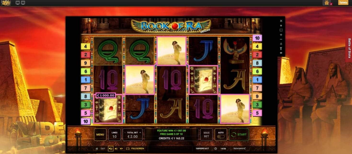 Book of Ra Deluxe Casino win picture by tunnus124 21.1.2021 1007e 504X Video Slots