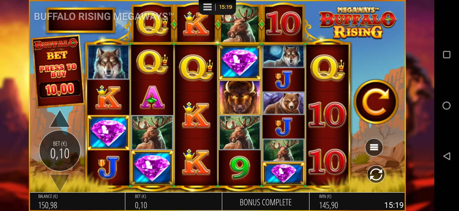 Buffalo Rising Megaways Casino win picture by hessumobiili13 12.1.2021 145.90e 1459X