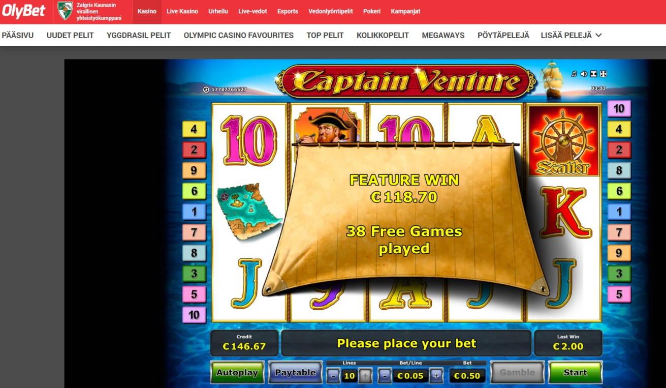 Captain Venture Casino win picture by Mrmork666 24.12.2020 118.70e 237X Olybet
