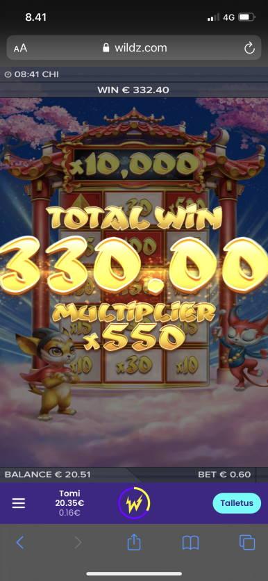 Chi Casino win picture by Turboburo 8.1.2021 332.40e 554X Wildz