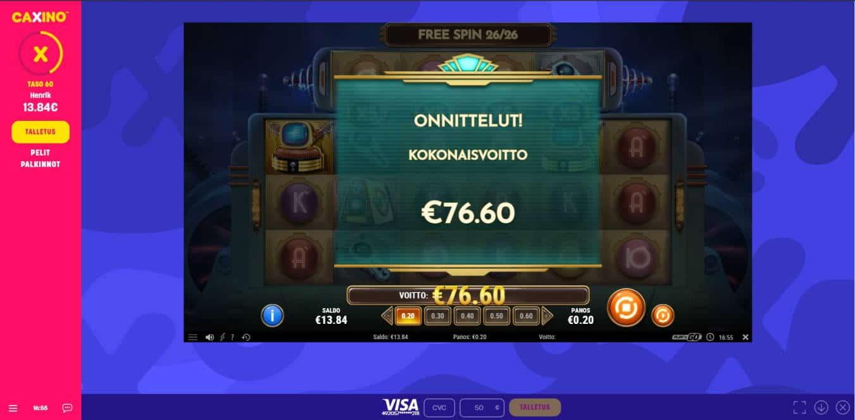 Coils of Cash Casino win picture by Henkka1986 13.1.2021 76.60e 383X Caxino