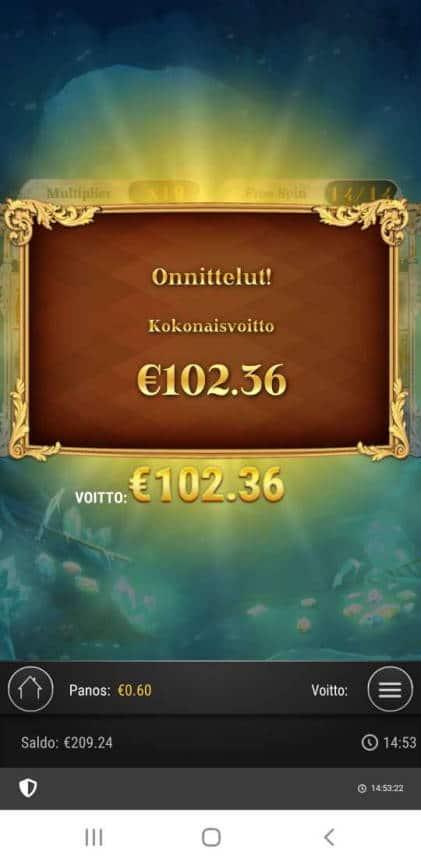 Frozen Gems Casino win picture by Mrmork666 4.1.2021 102.36e 171x