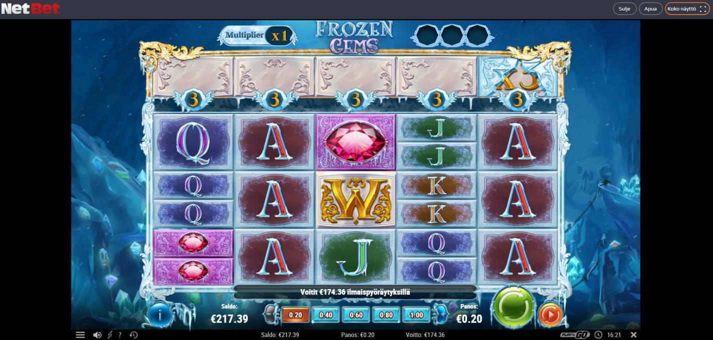 Frozen Gems Casino win picture by jiipee 28.12.2020 174.36e 872X NetBet