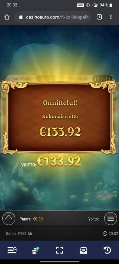 Frozen Gems Casino win picture by tiikerililja87 19.12.2020 133.92e 167X Casino Euro