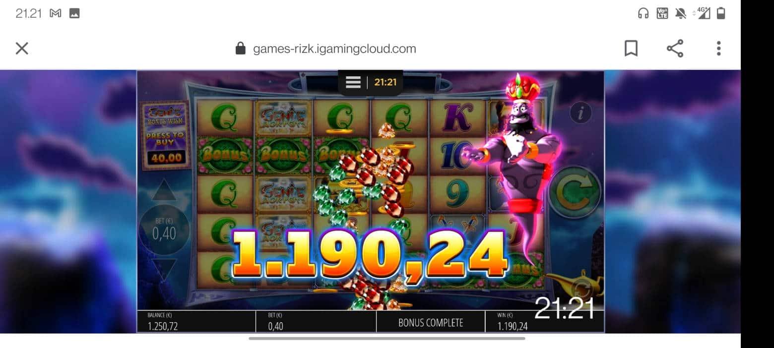 Genie Jackpot Megaways Casino win picture by terskanaattori 27.12.2020 1190.24e 2976X Rizk