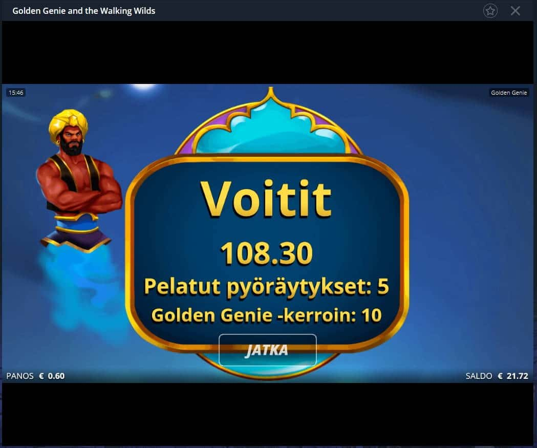 Golden Genie Casino win picture by Mrmork666 24.12.2020 108.30e 181X
