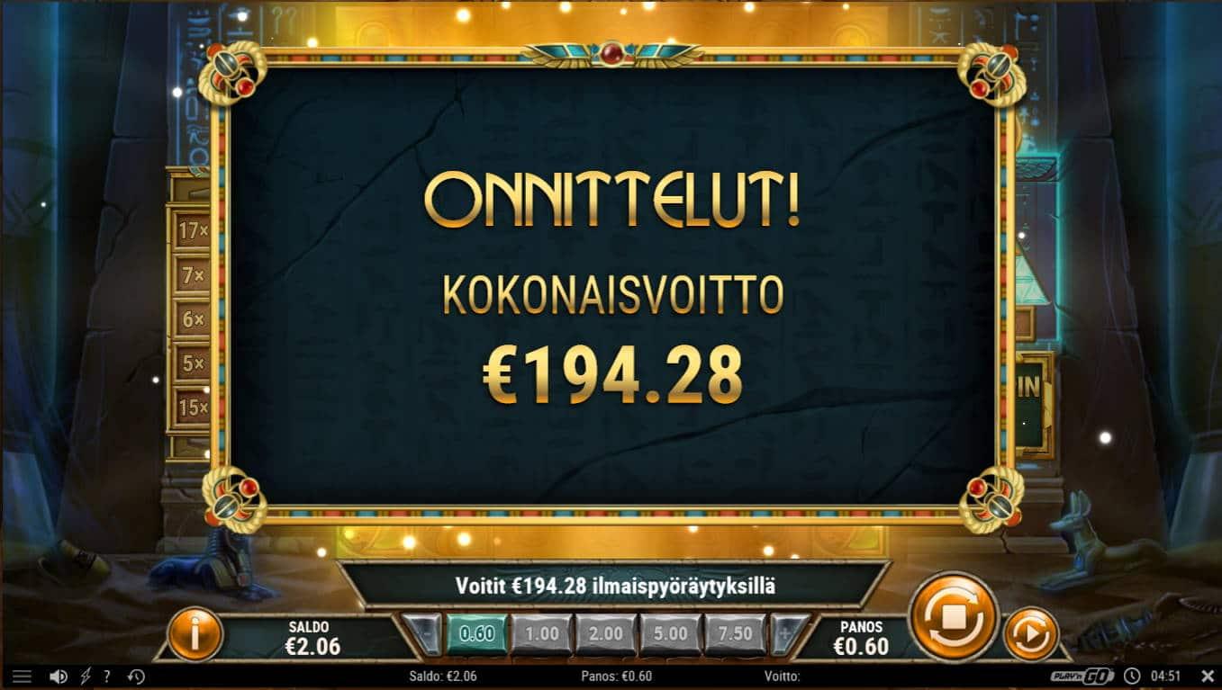 Golden Osiris Casino win picture by Kari Grandi 19.12.2020 194.28e 324X
