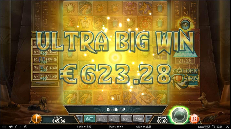 Golden Osiris Casino win picture by Kari Grandi 19.12.2020 623.28e 1039X