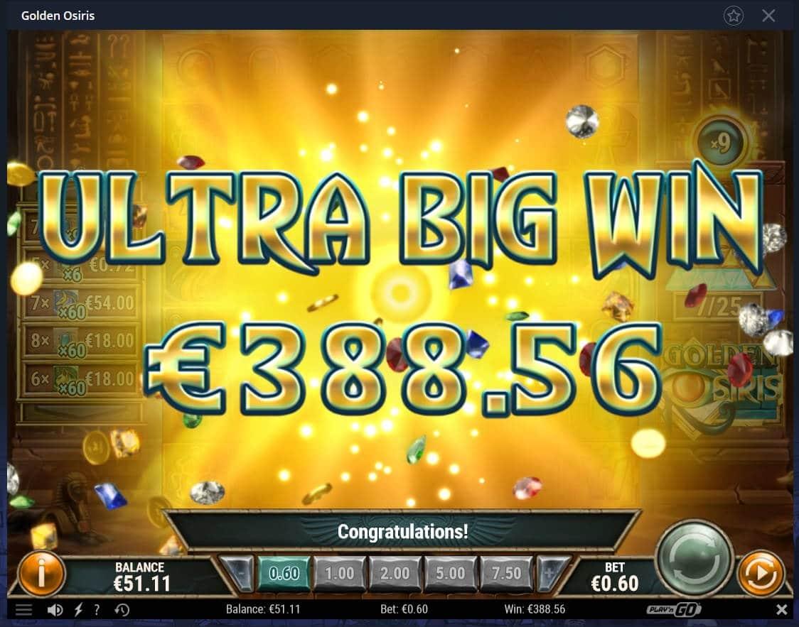 Golden Osiris Casino win picture by Mrmork666 24.12.2020 388.56e 648X Casumo