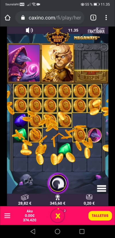 Heroes Hunt Casino win picture by Slowviking88 25.12.2020 345.60e 1728X Caxino