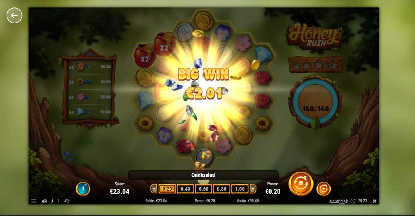 Honey Rush Casino win picture by Banhamm 7.1.2021 90.45e 452X
