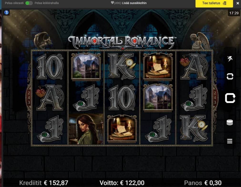 Immortal Romance Casino win picture by Mrmork666 16.1.2021 122e 407x