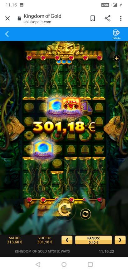 Kingdom of Gold Mystic Ways Casino win picture by MikoTiko 23.12.2020 301.18e 753X
