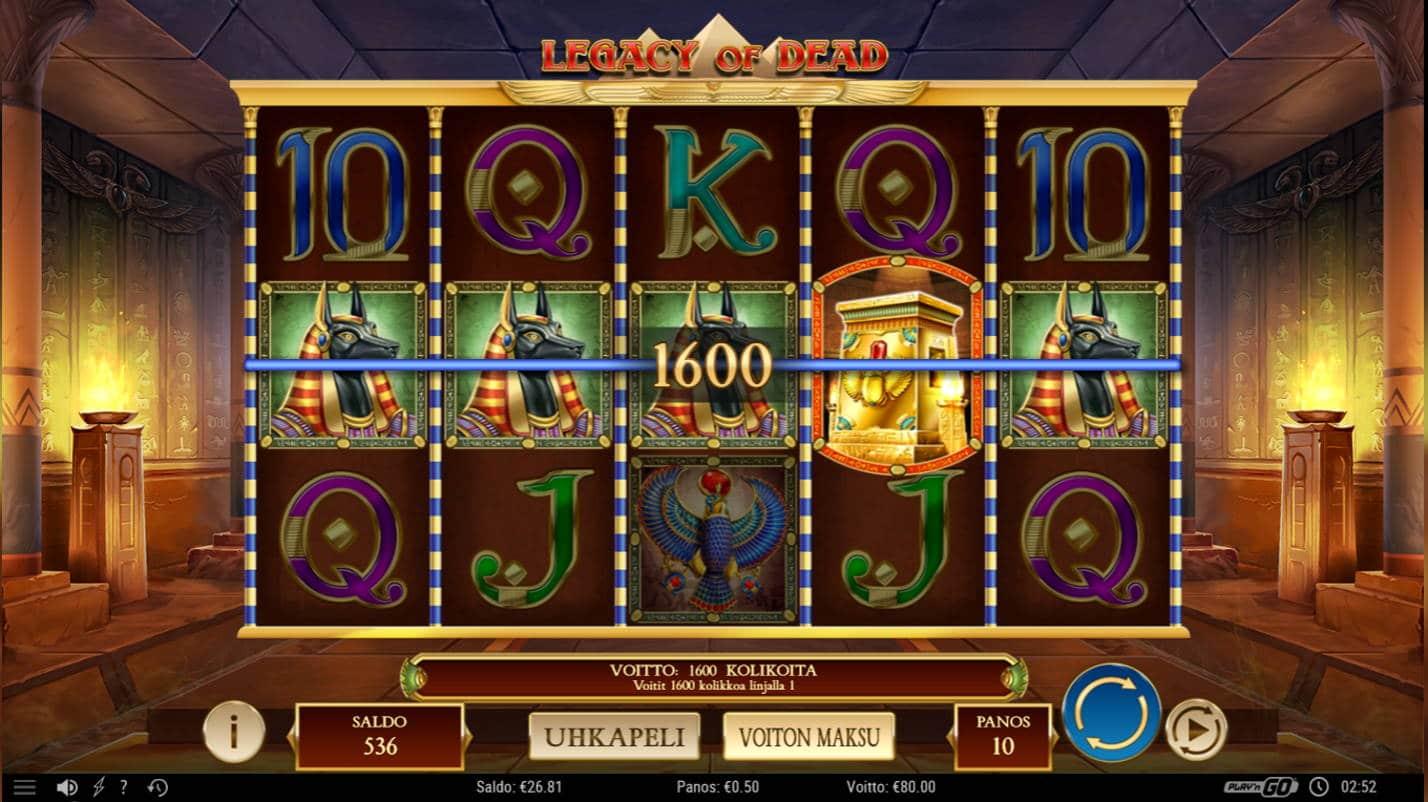 Legacy of Dead Casino win picture by Kari Grandi 1.12.2020 80e 160X