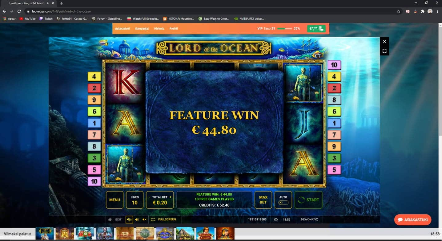 Lord of the Ocean Casino win picture by Henkka1986 19.12.2020 44.80e 224X LeoVegas