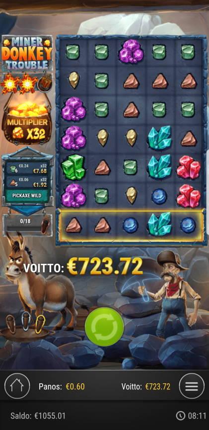 Miner Donkey Trouble Casino win picture by Artsi841 16.1.2021 723.72e 1206X
