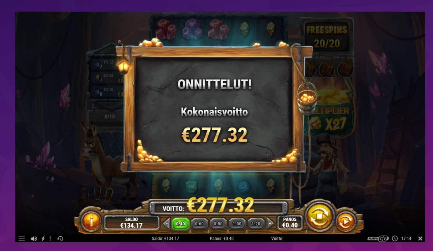 Miner Donkey Trouble Casino win picture by houseri 15.1.2021 277.32e 693X Wheelz