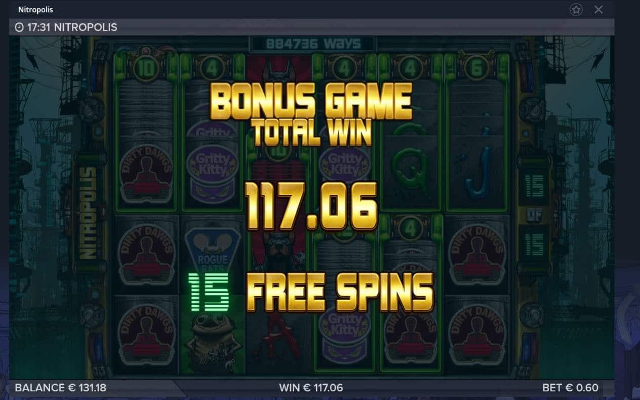 Nitropolis Casino win picture by Mrmork666 4.1.2021 117.06e 195x