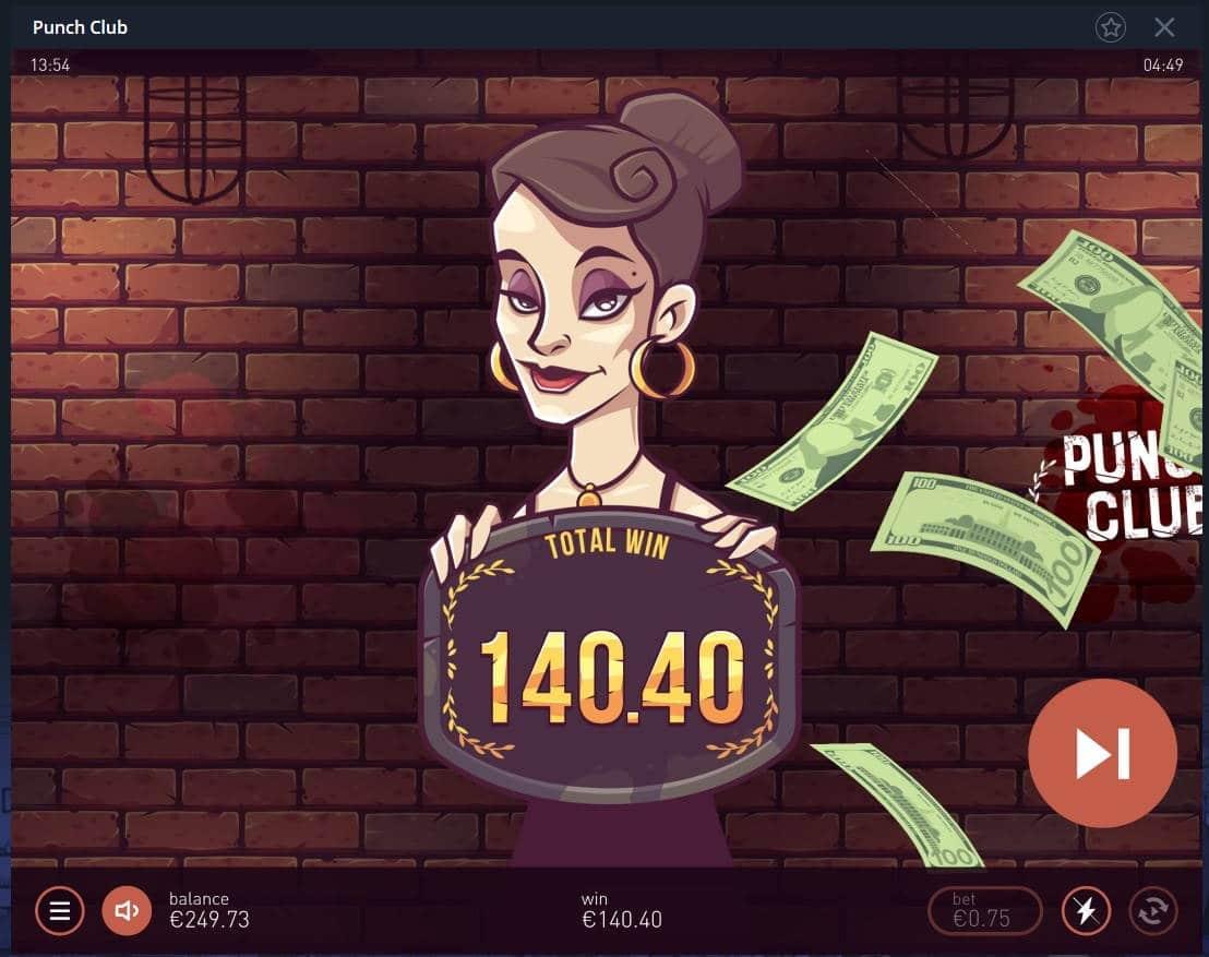 Punch Club Casino win picture by Mrmork666 24.12.2020 140.40e 187X