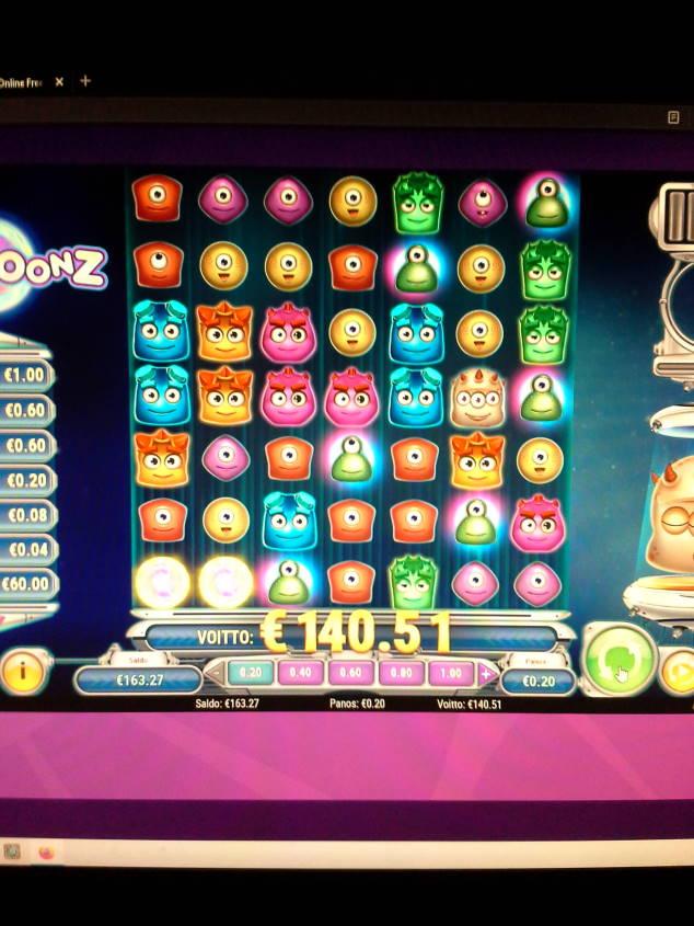 Reactoonz Casino win picture by Weedorf 13.1.2021 140.51e 703X