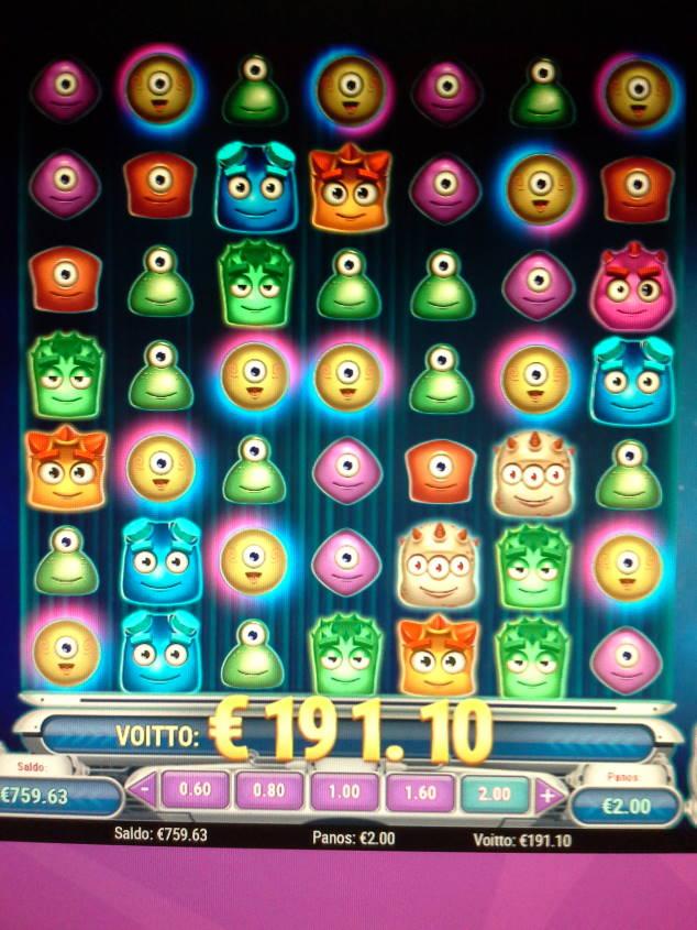 Reactoonz Casino win picture by Weedorf 13.1.2021 191.10e 96X