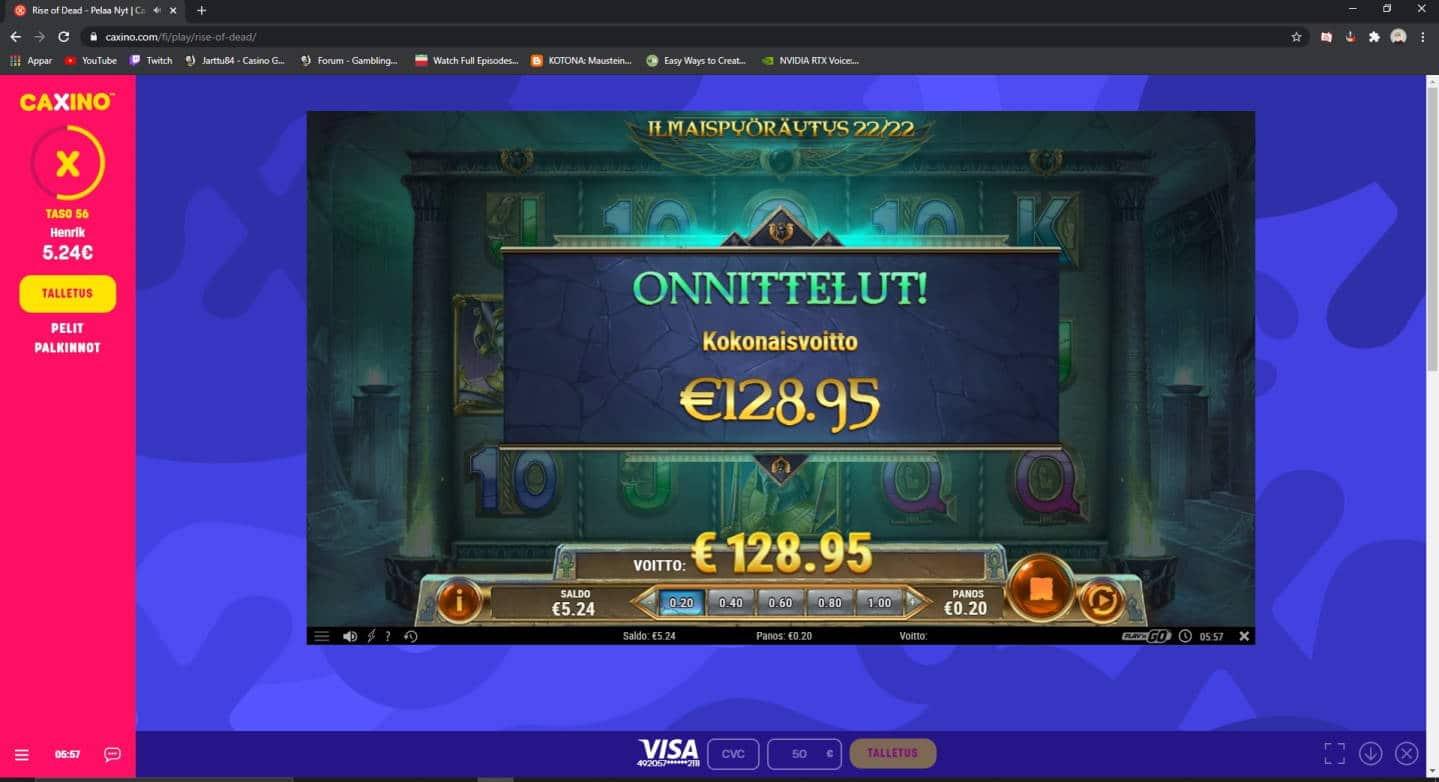 Rise of Dead Casino win picture by Henkka1986 24.12.2020 128.95e 645X Caxino