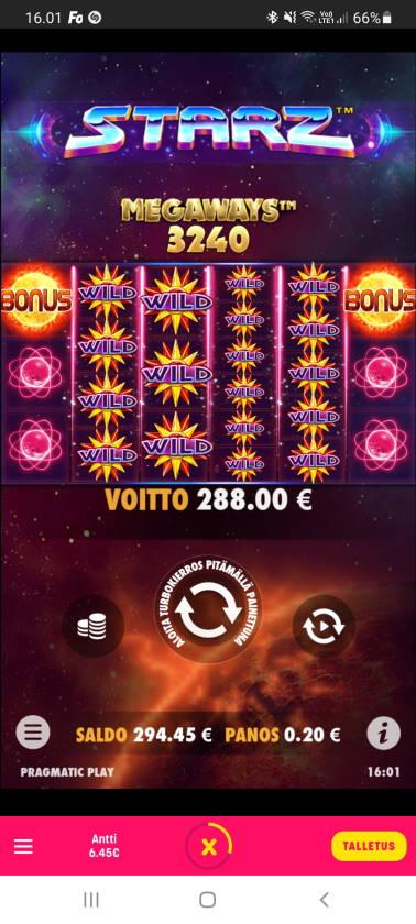Starz Megaways Casino win picture by dj_niemi 10.1.2021 288e 1440X Caxino