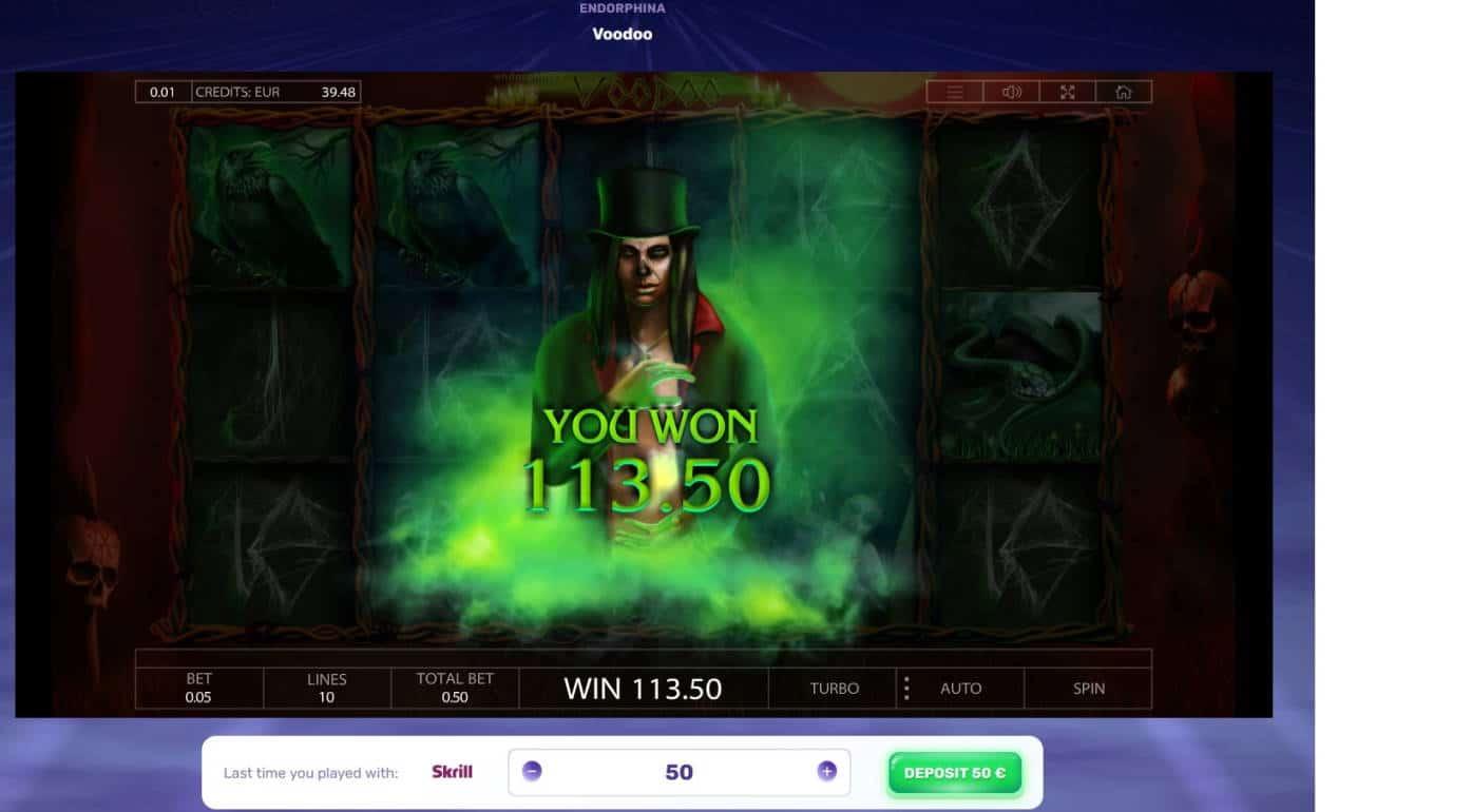 Voodoo Casino win picture by Mrmork666 24.12.2020 113.50e 227X