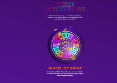 Wheelz Casino Wheel of Spinz