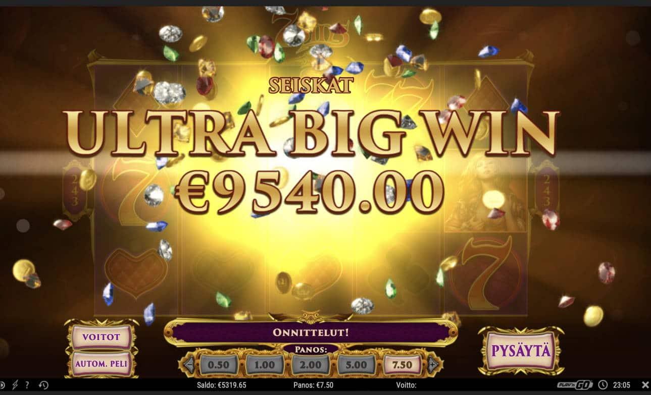 7 Sins Casino win picture by Pottijussi 6.2.2021 9540e 1272X