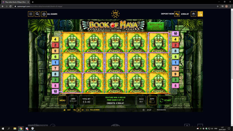 Book of Maya Casino win picture by jonkki 29.1.2021 400.60e 1002X