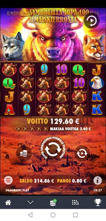 Buffalo King Casino win picture by Hookos 5.2.2021 129.60e 162X