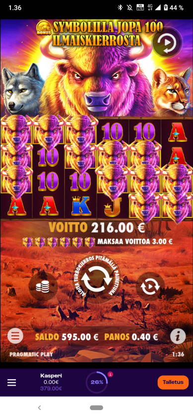 Buffalo King Casino win picture by Kasperi001 24.1.2021 216e 540X Wheelz
