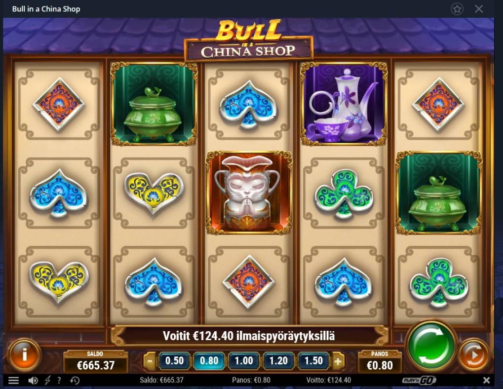 Bull in a China Shop Casino win picture by Mrmork666 28.1.2021 124.40e 155X