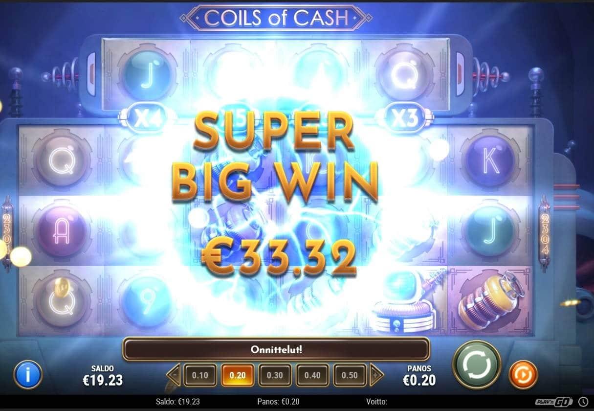Coils of Cash Casino win picture by Mrmork666 28.1.2021 33.32e 167X