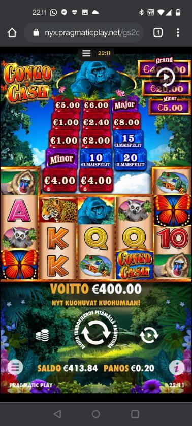 Congo Cash Casino win picture by HuuZ 22.1.2021 400e 2000X