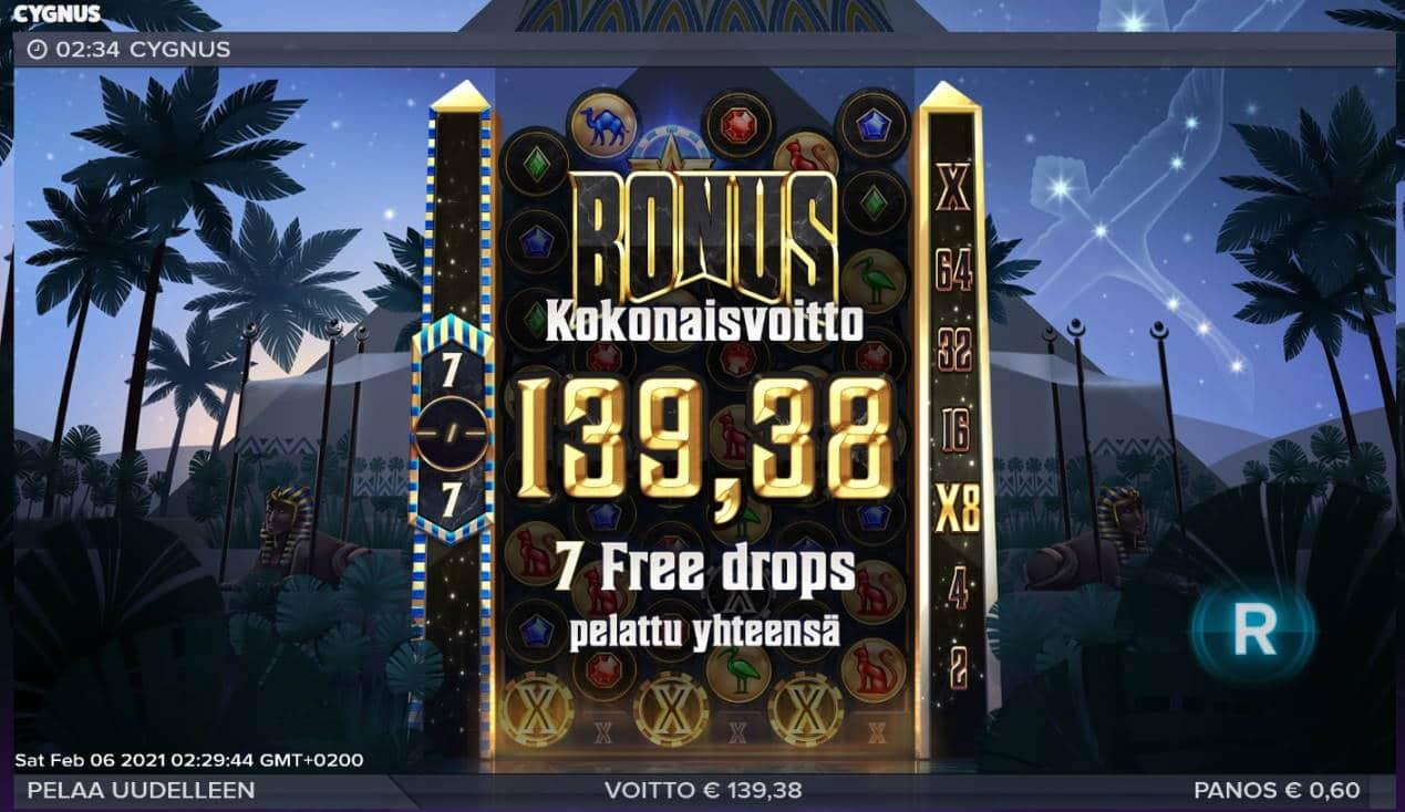 Cygnus Casino win picture by Mrmork666 6.2.2021 139.38e 232X