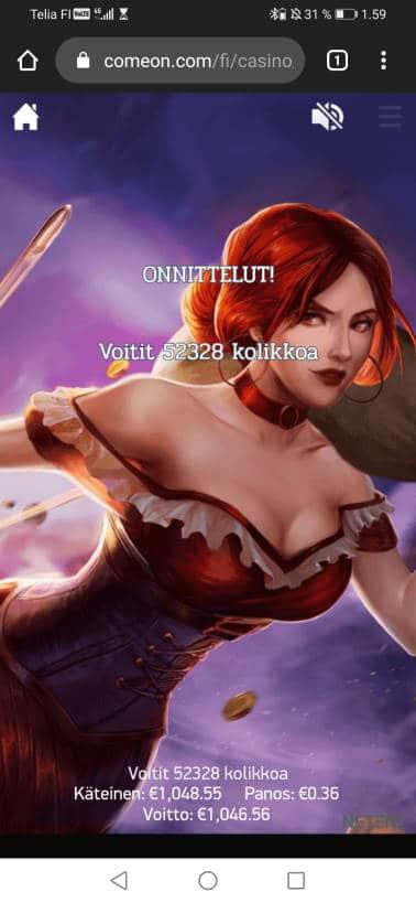Dead or Alive 2 Casino win picture by stenwall_ 31.1.2021 1046.56e 2907X ComeOn