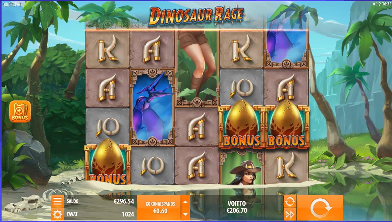 Dinosaur Rage Casino win picture by Kari Grandi 6.2.2021 206.70e 345X