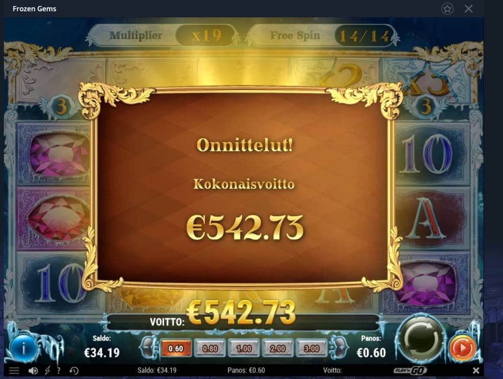 Frozen Gems Casino win picture by Mrmork666 28.1.2021 542.73e 905X Vulkan Vegas