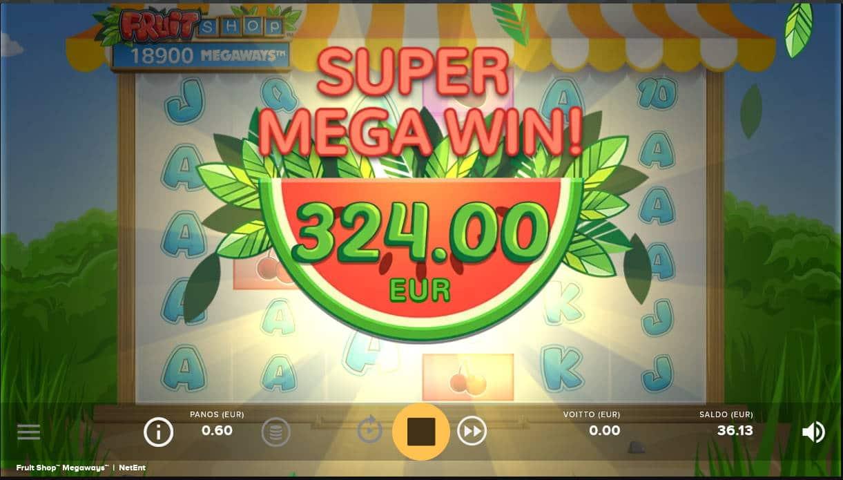 Fruit Shop Megaways Casino win picture by Kari Grandi 5.2.2021 324e 540X