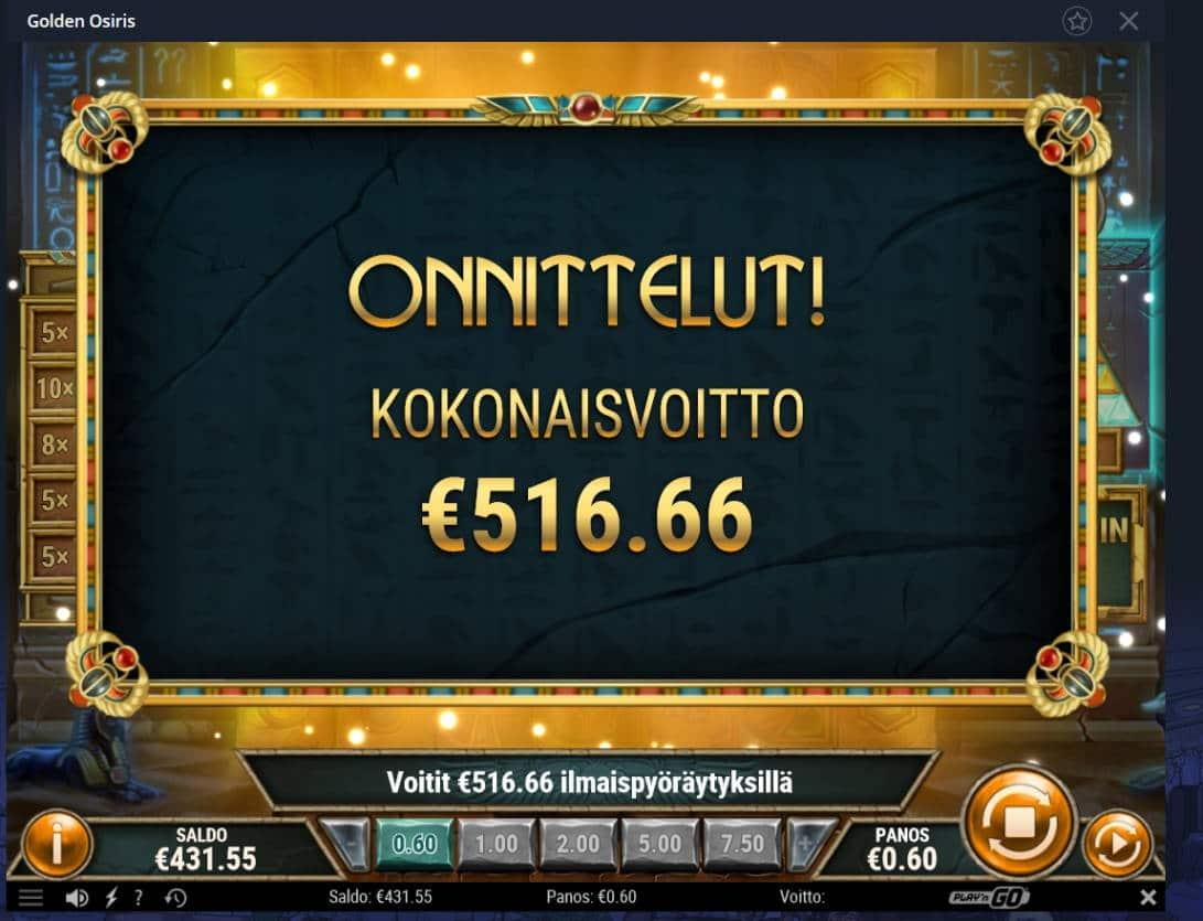 Golden Osiris Casino win picture by Mrmork666 28.1.2021 516.66e 861X Vulkan Vegas